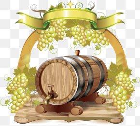 Wine Label - Wine Root Beer Barrel PNG
