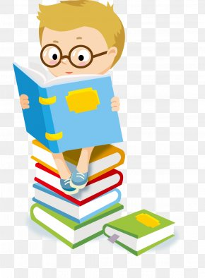 Student - Child Reading Clip Art PNG