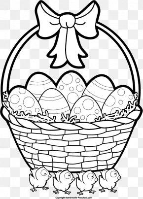 Easter Basket Clipart - Easter Bunny Easter Egg Easter Basket Clip Art PNG