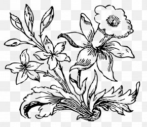 Flower Drawing - Flower Black And White Desktop Wallpaper Clip Art PNG