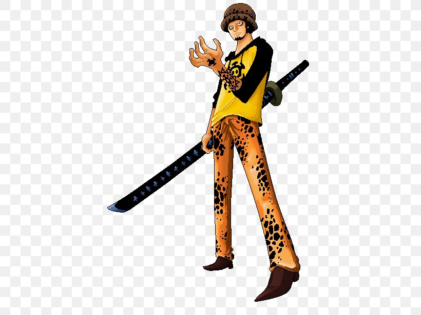 Trafalgar D. Water Law Monkey D. Luffy One Piece: Pirate Warriors Dead Or Alive, PNG, 410x615px, Trafalgar D Water Law, Baseball Equipment, Character, Cold Weapon, Costume Download Free
