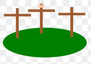 Easter Cross - Clip Art PNG