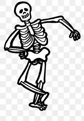 Fun Skeleton Cliparts - Halloween Human Skeleton Clip Art PNG
