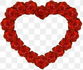 Rose Heart Transparent Clip Art - Heart Rose Clip Art PNG