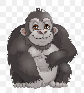 Gorilla - Western Gorilla Clip Art Ape Vector Graphics Illustration PNG
