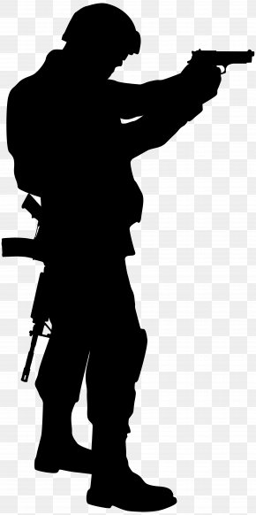 Soldier Silhouette Cliparts - Soldier Silhouette Army Clip Art PNG