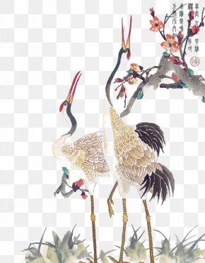 Chinese Wind Crane - Crane Tattoo Idea PNG