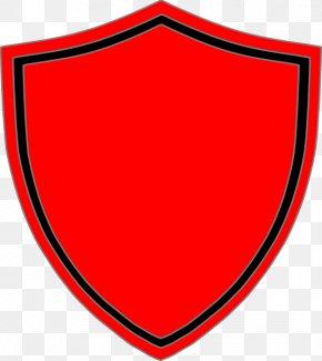 Simple Flames Border Transparent Background - Shield Escutcheon Clip Art PNG