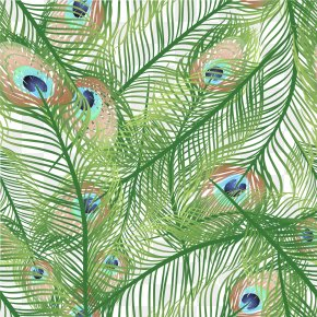 Hand Painted Peacock Feather Vector - Feather Peafowl Euclidean Vector PNG