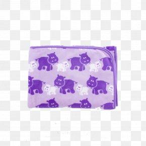 Purple Coral - Hippopotamus Polar Fleece Blanket Rectangle Cots PNG