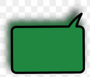 Solid Rectangle Cliparts - Speech Balloon Rectangle Green Clip Art PNG
