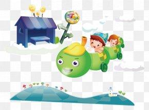 Aircraft Caterpillar - Cartoon Child Illustration PNG