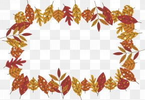 A Neatly Arranged Maple Leaf Border - Maple Leaf Red Maple Autumn Leaf Color PNG