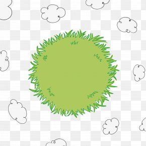 Vector Hand Painted Grass And Cloud - Euclidean Vector Cloud Herbaceous Plant PNG