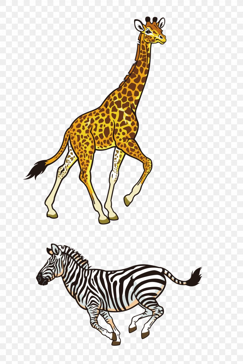 Africa Northern Giraffe Rhinoceros Lion Illustration, PNG, 2257x3387px, Africa, Animal, Big Cats, Elephant, Fauna Download Free