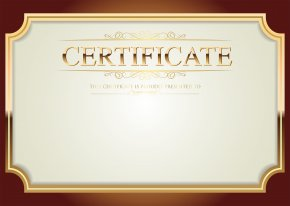 Certificate Template Clip Art - Clip Art PNG