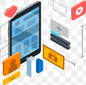 Three-dimensional Mobile Phone APP Introduced Picture - Web Development User Experience User Interface Technology Mobile App Development PNG