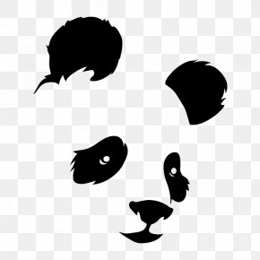 Bear - Giant Panda Bear Silhouette Wall Decal Sticker PNG