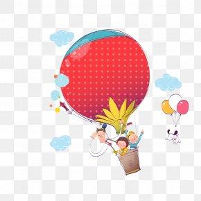 Cartoon Balloon - Cartoon Child Balloon Illustration PNG