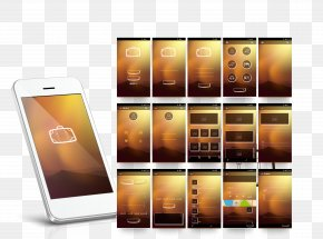 White Smartphone APP Introduction Layout Pictures - Mobile App User Interface Design Icon PNG