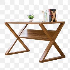 Wooden Cross Shape Desk - Table Office Chair Desk PNG