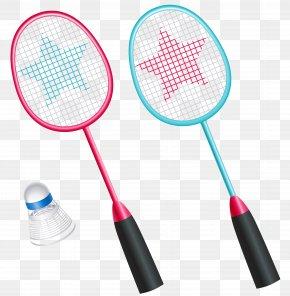 Badminton Rackets With Shuttlecock Vector Clipart - Badminton Racket Shuttlecock Icon PNG