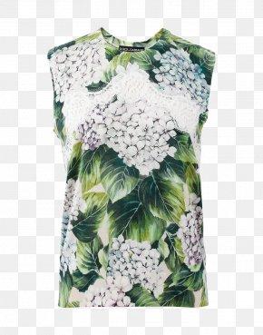 Dolce & Gabbana - T-shirt Sleeve Crew Neck Top Dolce & Gabbana PNG