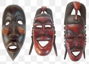 Minimalista Moderno - Traditional African Masks Wood Carving PNG