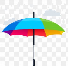 Rainbow Color Umbrella Design Vector Material Vector - Name Meaning PNG