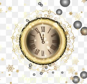 Gold Lace Countdown Clocks - Clock New Years Eve Icon PNG