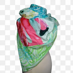 Scarf Silk Stole Turquoise PNG