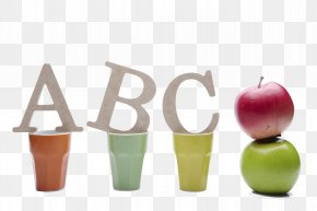 The ABC In The Cup And The Apples Next To It - Uiwang Letters ABC Uc7a5uc120ud654uc758 Uad50uc2e4ubc16 Uae00uc4f0uae30 School PNG