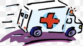 Speeding Ambulance - Ambulance First Aid Cartoon Health Care PNG