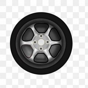 Vector Cartoon Pattern - Car Wheel Clip Art PNG