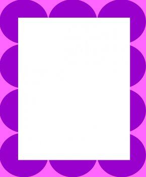 Dot Border Cliparts - Polka Dot Purple Clip Art PNG