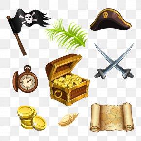 Vector Pirates Elements - Treasure Island Piracy Treasure Map Jolly Roger PNG