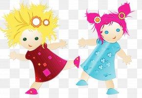 Happy Child Art - Cartoon Doll Child Art Happy PNG