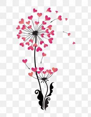 Heart-shaped Vector Dandelion - Dandelion Stock Photography Clip Art PNG