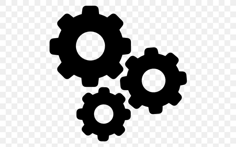 Gear Png 512x512px Computer Software Black And White Business Gear Hardware Download Free