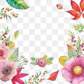 Watercolor Flowers Vector Material - Flower Clip Art PNG