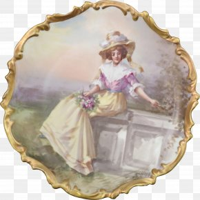 Handpainted Antique Jewelry - Porcelain Figurine Picture Frames Tableware Image PNG