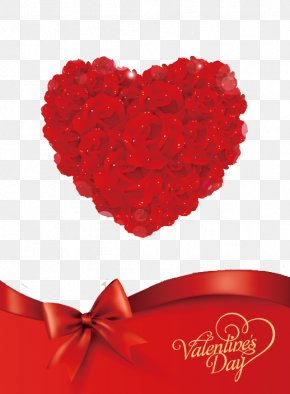 Valentine's Day Flowers - Valentines Day Greeting Card Gift Clip Art PNG