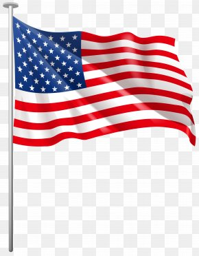 USA Waving Flag Clip Art Image - Flag Of The United States Clip Art PNG
