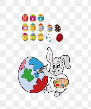 Easter Bunny - Easter Bunny Easter Egg Rabbit Illustration PNG