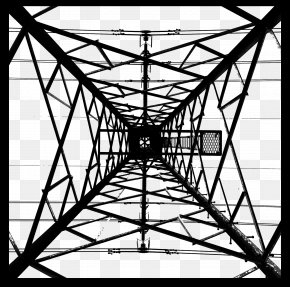 Look Up The Tower - Electricity Wire Download Icon PNG