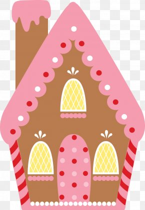 Cottage - Gingerbread House Candy Cane Clip Art PNG