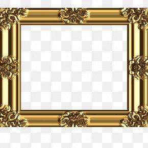 Textured Decorative Golden Frame - Picture Frame Gold PNG