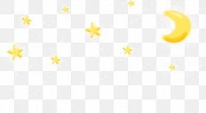 Cartoon Clip Crescent Pattern,Cartoon Moon Stars - Yellow Area Pattern PNG