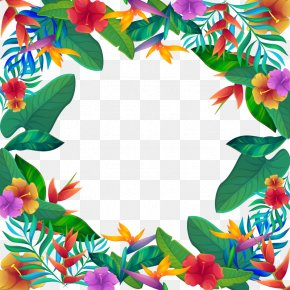Vector Tropical Flowers - Clip Art PNG