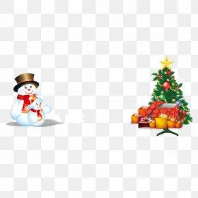 Snowman And Christmas Tree - Santa Claus Christmas Tree Snowman PNG
